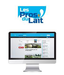 Site Internet les Pros du lait